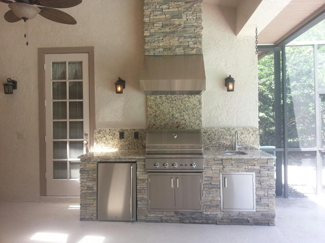 Goode Bill Did A Wonderful Job Designing Our Summer Kitchen Testimonials  Outdoor Kitchen Creations.